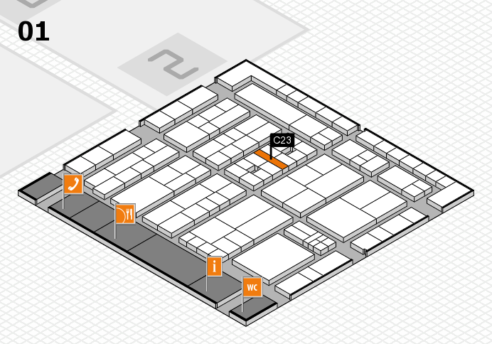 K 2016 Hallenplan (Halle 1): Stand C23