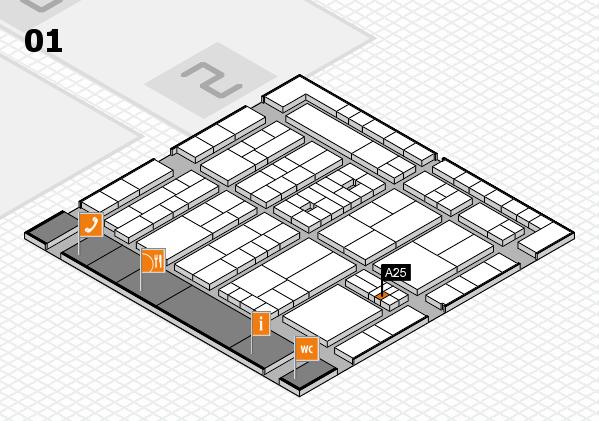 K 2016 hall map (Hall 1): stand A25
