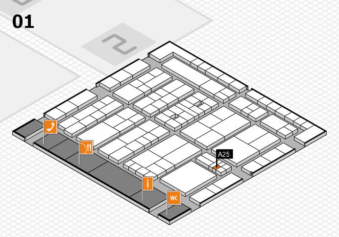 K 2016 Hallenplan (Halle 1): Stand A25