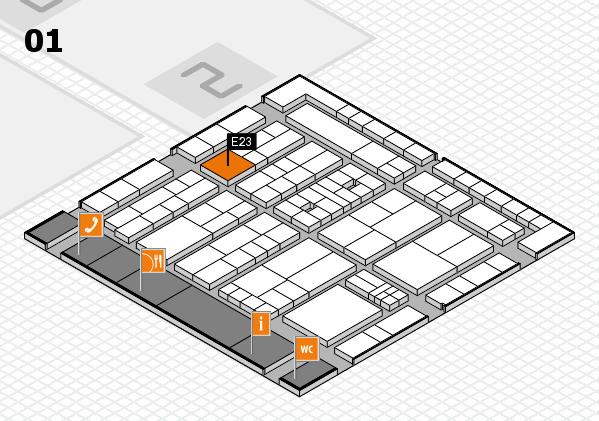 K 2016 Hallenplan (Halle 1): Stand E23
