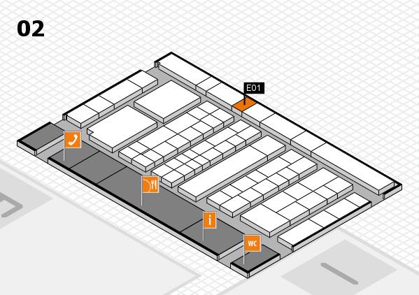 K 2016 hall map (Hall 2): stand E01