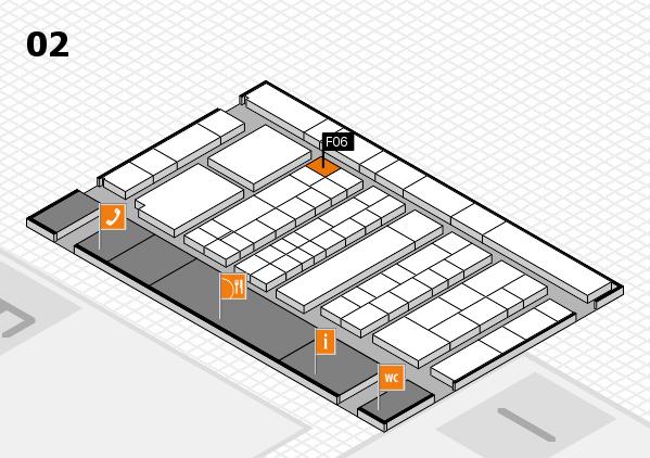 K 2016 hall map (Hall 2): stand F06