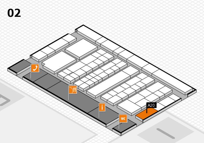 K 2016 hall map (Hall 2): stand A20
