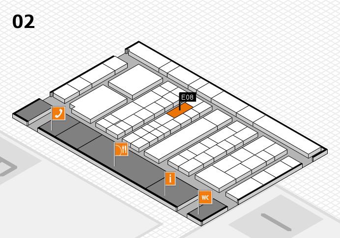K 2016 Hallenplan (Halle 2): Stand E08