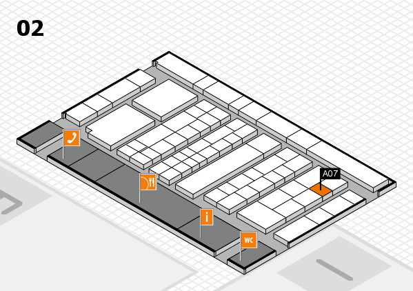 K 2016 hall map (Hall 2): stand A07