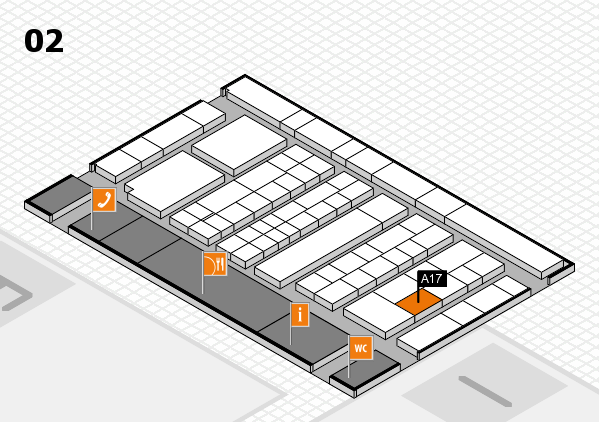 K 2016 hall map (Hall 2): stand A17