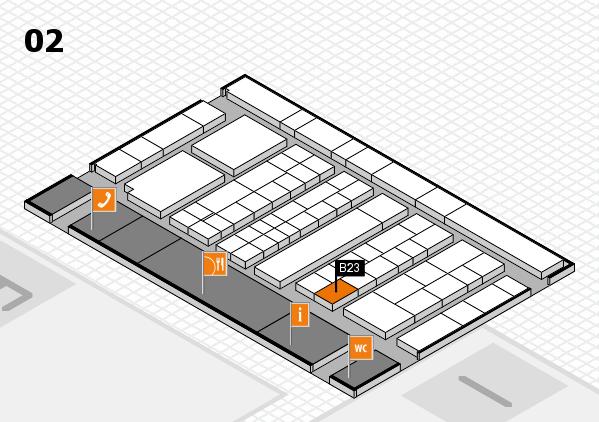 K 2016 hall map (Hall 2): stand B23