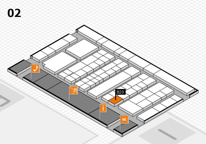 K 2016 Hallenplan (Halle 2): Stand B23