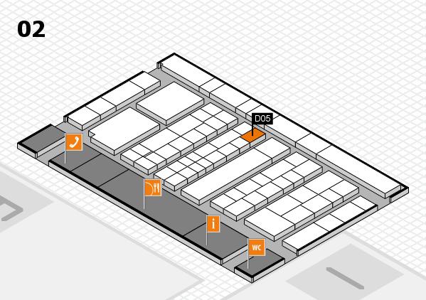 K 2016 hall map (Hall 2): stand D05