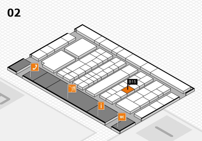 K 2016 hall map (Hall 2): stand B15