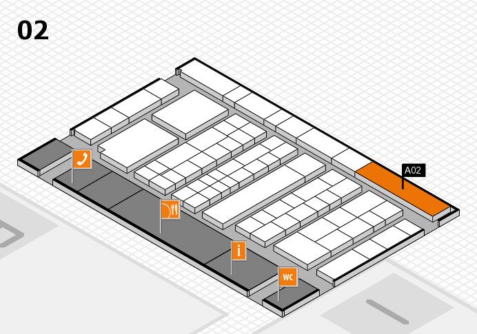 K 2016 hall map (Hall 2): stand A02