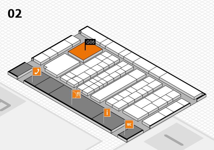 K 2016 hall map (Hall 2): stand G06
