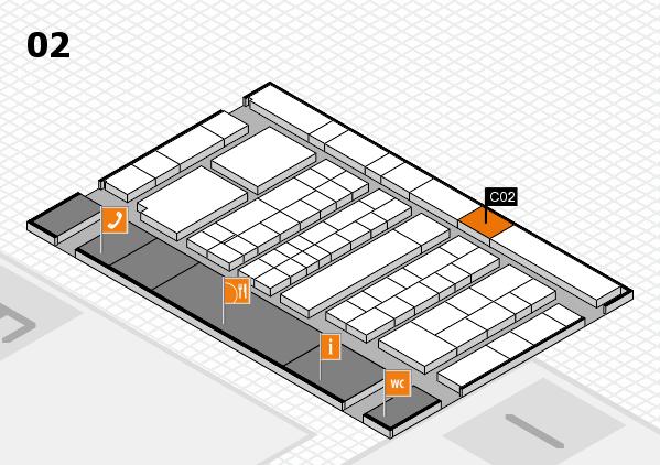 K 2016 hall map (Hall 2): stand C02