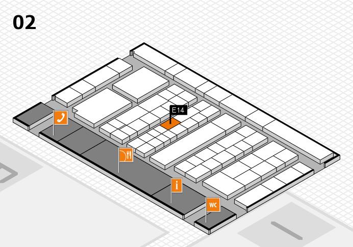 K 2016 Hallenplan (Halle 2): Stand E14