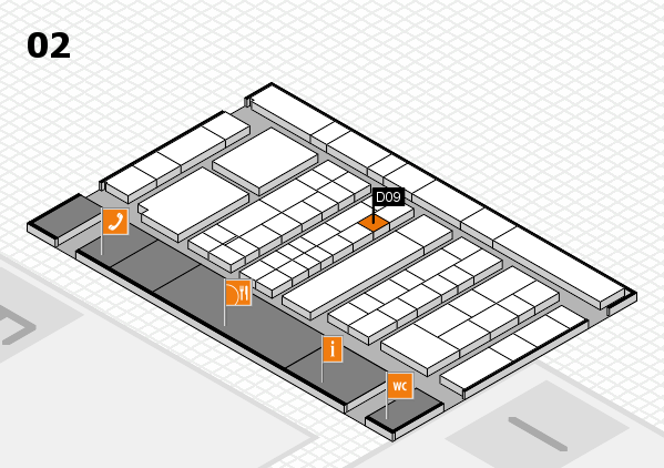 K 2016 hall map (Hall 2): stand D09