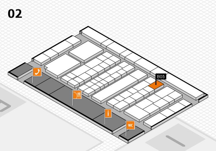 K 2016 hall map (Hall 2): stand B05
