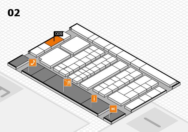 K 2016 hall map (Hall 2): stand G09