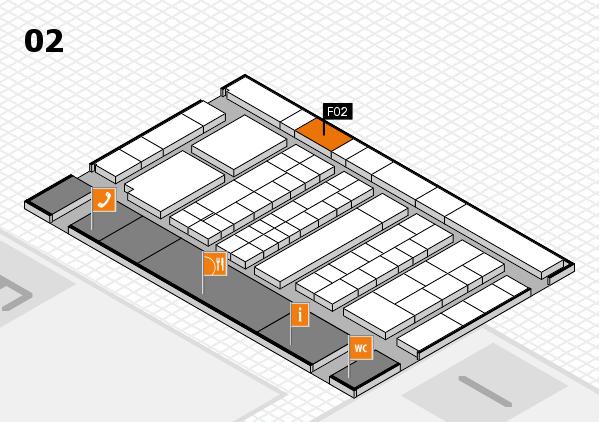 K 2016 hall map (Hall 2): stand F02