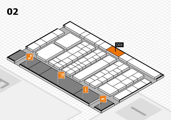K 2016 hall map (Hall 2): stand D03