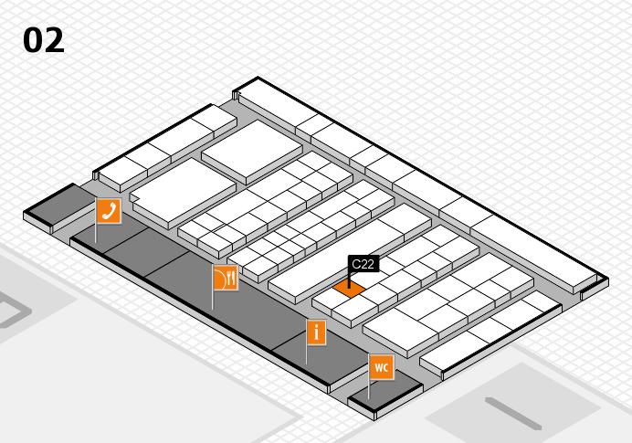 K 2016 hall map (Hall 2): stand C22