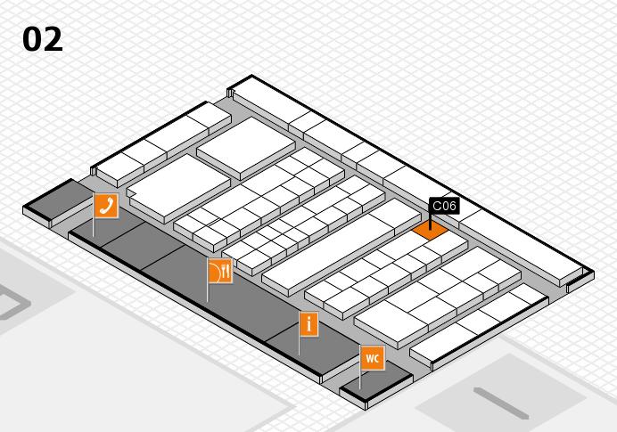 K 2016 hall map (Hall 2): stand C06