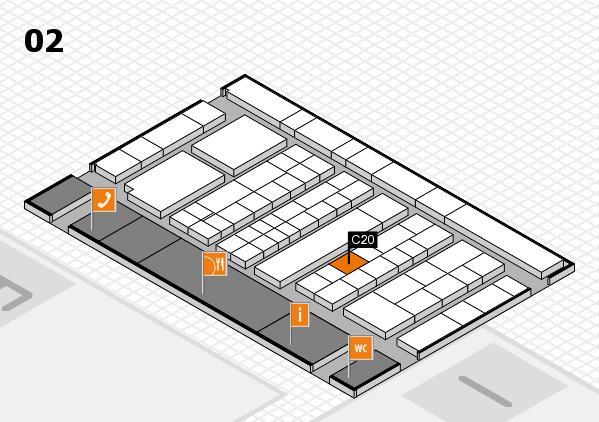 K 2016 hall map (Hall 2): stand C20