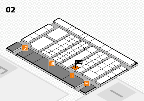 K 2016 hall map (Hall 2): stand C24