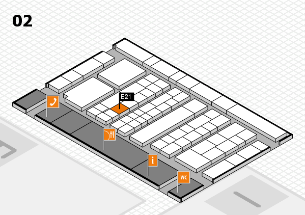 K 2016 hall map (Hall 2): stand E21