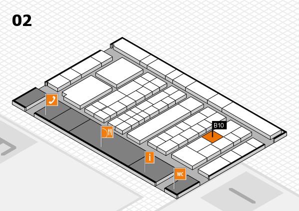 K 2016 Hallenplan (Halle 2): Stand B10
