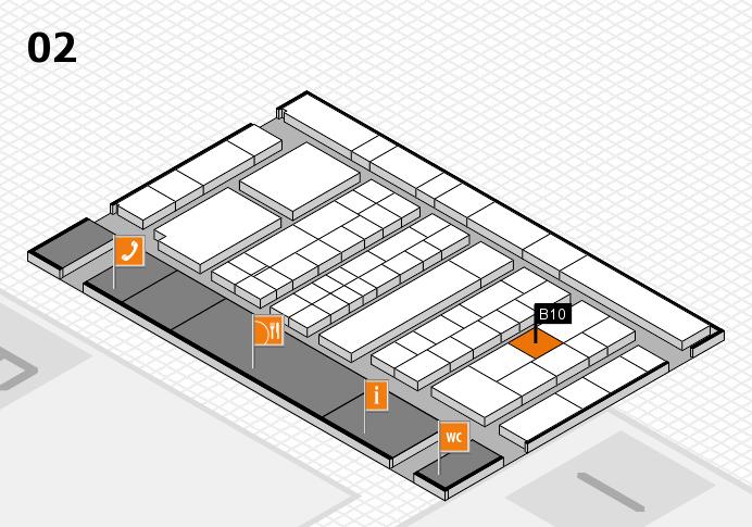 K 2016 hall map (Hall 2): stand B10