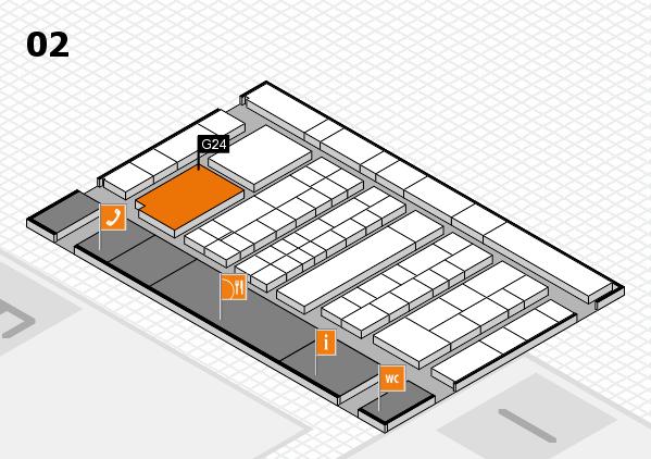 K 2016 Hallenplan (Halle 2): Stand G24