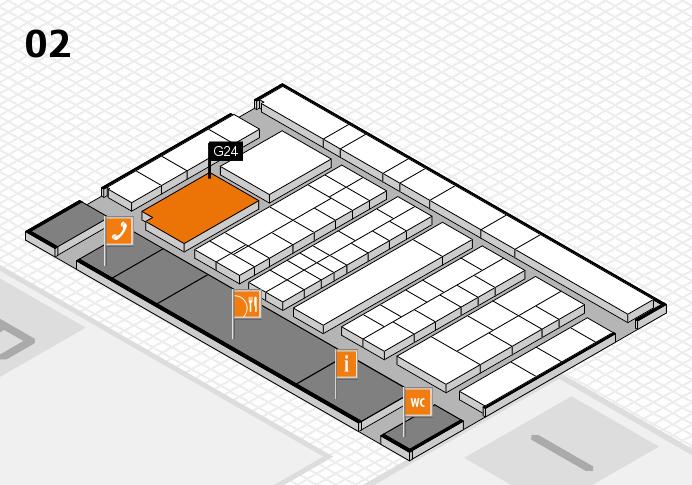 K 2016 hall map (Hall 2): stand G24