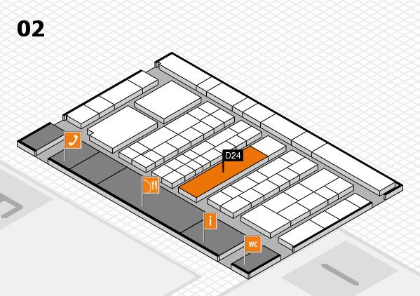 K 2016 hall map (Hall 2): stand D24