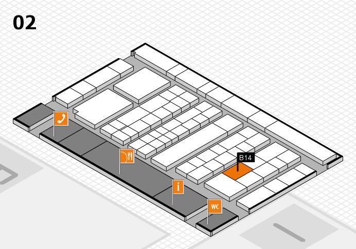 K 2016 hall map (Hall 2): stand B14