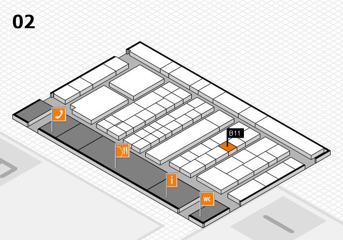 K 2016 hall map (Hall 2): stand B11