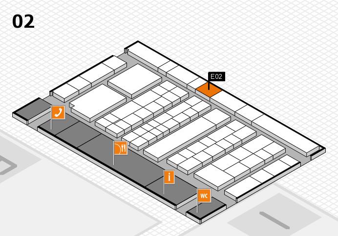 K 2016 hall map (Hall 2): stand E02