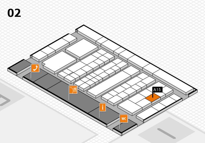 K 2016 hall map (Hall 2): stand A15