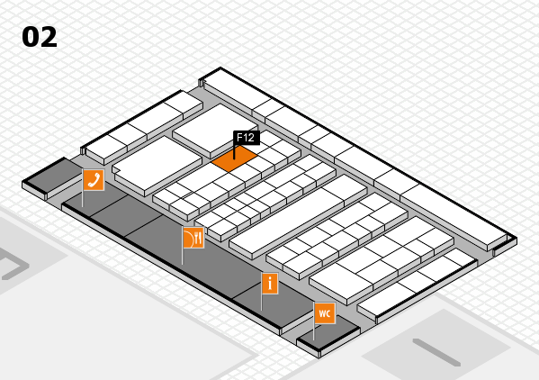 K 2016 hall map (Hall 2): stand F12