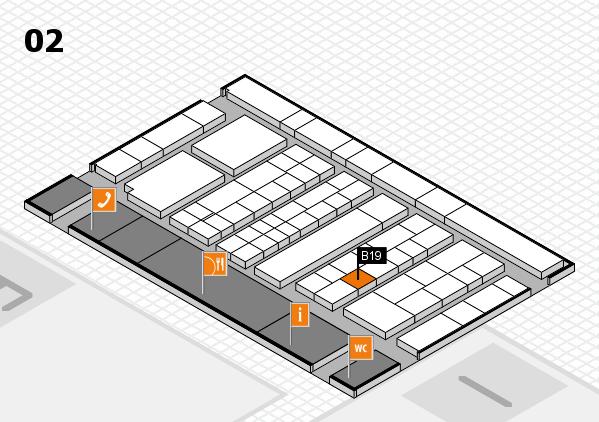 K 2016 hall map (Hall 2): stand B19