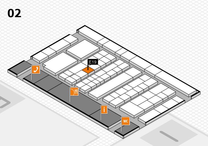 K 2016 hall map (Hall 2): stand E19