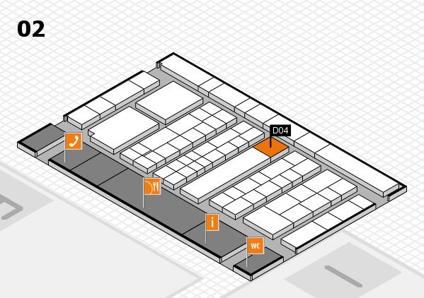 K 2016 hall map (Hall 2): stand D04