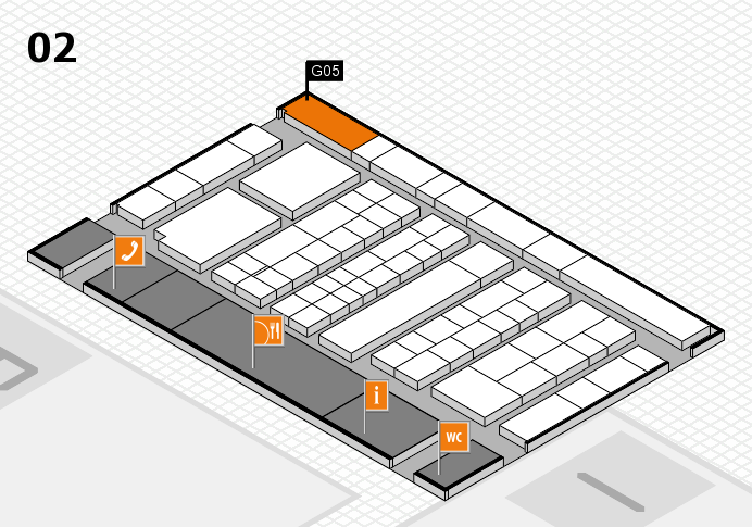 K 2016 hall map (Hall 2): stand G05