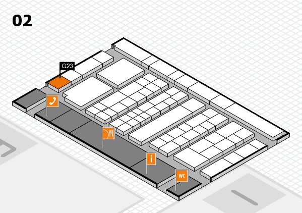 K 2016 Hallenplan (Halle 2): Stand G23