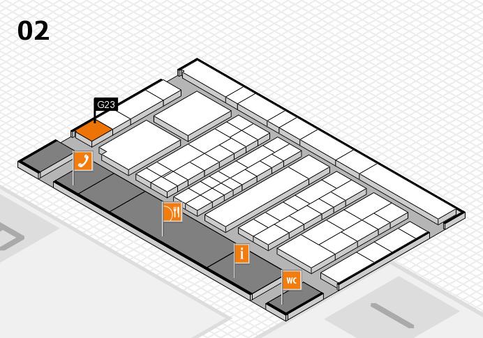 K 2016 hall map (Hall 2): stand G23