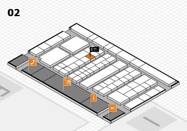 K 2016 hall map (Hall 2): stand E11