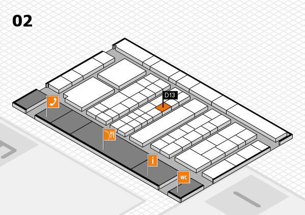 K 2016 Hallenplan (Halle 2): Stand D13