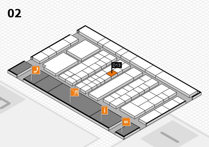 K 2016 hall map (Hall 2): stand D13