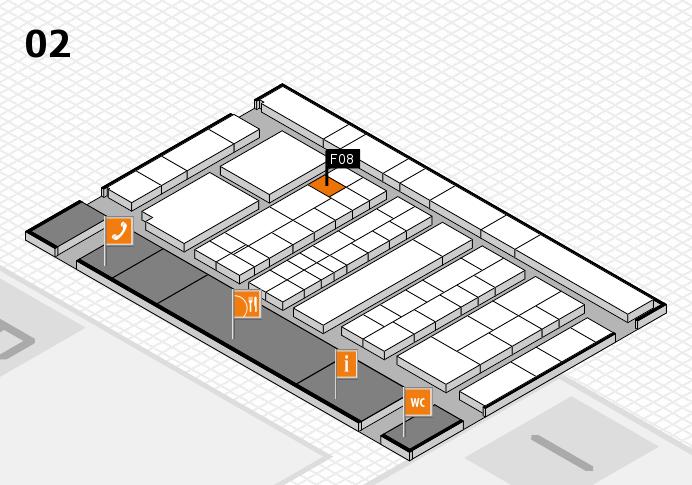 K 2016 hall map (Hall 2): stand F08