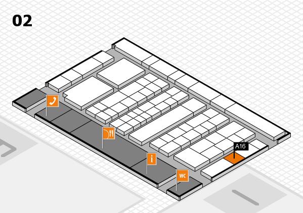 K 2016 Hallenplan (Halle 2): Stand A16