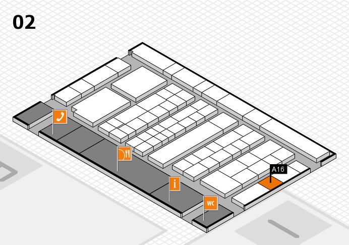 K 2016 hall map (Hall 2): stand A16